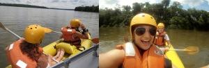 Kayaking at Iguazu Falls, Brazil
