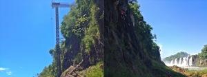 Rappelling and rock climbing at Iguazu Fallls